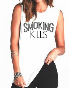 FREE SHIPPING Smoking Kills Smoking kills Tank by pebbyforevee, $31.95