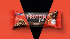 Corny Protein Bars on Packaging of the World - Creative Package Design Gallery Protein Bar Brands, Snack Brands, Protein Bars, Chocolate Crunch, Chocolate Wafers, Ad Design, Branding Design, Design Ideas, Biscuits Packaging