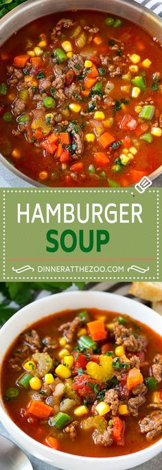 You Have Meals Poisoning More Normally Than You're Thinking That Hamburger Soup Recipe Hamburger And Vegetable Soup Hamburger And Potato Soup Hamburger Stew Ground Beef Soup Beef Soup Recipes, Vegetable Soup Recipes, Veggie Soup, Ground Beef Recipes, Chili Recipes, Slow Cooker Recipes, Best Hamburger Soup Recipe, Slow Cooker Hamburger Soup, Beef And Bean Soup Recipe