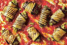 Dale Pinnock's aubergine cannelloni with walnut pesto Yummy Pasta Recipes, Vegetarian Recipes, Yummy Food, Healthy Recipes, Healthy Food, Walnut Pesto, Vegan Main Dishes, The Dish, Plant Based Recipes