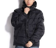 Hot Moncler Mens Black Zin Hooded Down Jacket [2900128] - 153.69 :