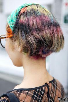 Rainbow Hair & Headscarf