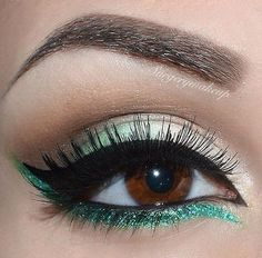 Turquoise Look for brown eyes