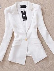 Cheap suit boxers, Buy Quality suit snow directly from China suit slim Suppliers: Spring Hot Sale Blazer Women Feminino 2015 Slim Gold Buckle Suit Autumn OL Leisure Suit Female Look Blazer, Casual Blazer, Blazer Jacket, Blazer Suit, Blazers For Women, Jackets For Women, Clothes For Women, Women Blazer, Ladies Blazers