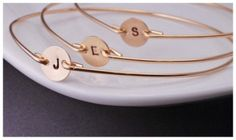 Initial Bracelets   For the bridesmaids