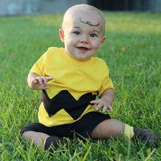 Charlie Brown Shirt Charlie Brown Costume Baby by AlligatorLane