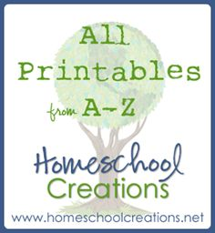 Homeschool Creation's printables listed alphabetically from A to Z - for preschool through elementary age {and even moms!}. This is a TREMENDOUS amount of fabulous material. No need to buy any pre-K or K curriculum!