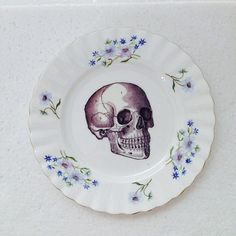 Sky blue flowers  - Poppies - Richmond china saucer - Wall Display Plate Collage…