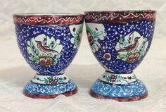 Persian Enamel Copper Minakari Egg Cup by MomsantiquesNthings