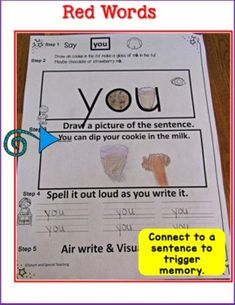 Dyslexia Activities, Dyslexia Teaching, Teaching Reading, Wilson Reading, Red Words, Gillingham, Word Pictures, You Draw, Word Work
