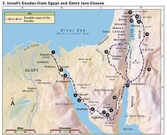 Israel's Exodus from Egypt and Entry into Canaan Lds Scriptures, Bible Verses, Terra Santa, Bible Mapping, 12 Tribes Of Israel, Study Pictures, Joshua 1, Bible Truth, Old Testament