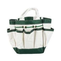 Canvas Garden Tote with 7 Pockets Home Tool Bag Gardening Crafts Outdoor Work #GardenToolTote