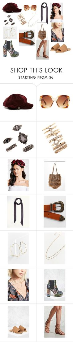 """Florence Welch's Accessories Capsule"" by luvsarahxoxo ❤ liked on Polyvore featuring Forever 21, Urban Outfitters, cute, chic, boho, accessories and florence"