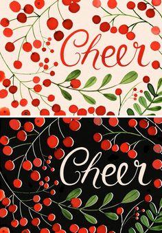 Margaret Berg Art: Berries Cheer: Cream & Black