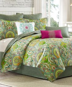 Loving this Green Paisley Coverlet on #zulily! #zulilyfinds