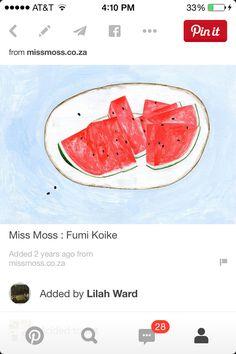 Watermelon tattoo idea