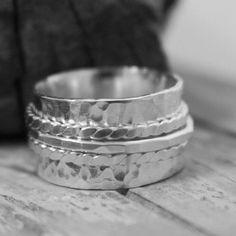 Sterling spinner ring. www.moodichic.etsy.com