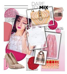 """MIX"" by amazingmeraff on Polyvore featuring Clinique, Polaroid, Bebe, Valentino, Liz Claiborne, Bobbi Brown Cosmetics, Burberry and patternmixing"