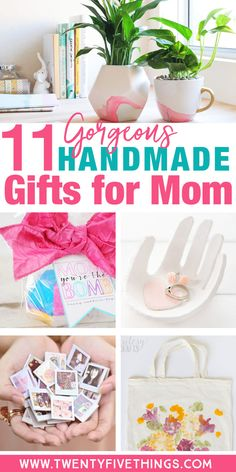 Find something special to make for mom this Mother's Day with these gorgeous DIY Mother's Day gift ideas. Many of these are handmade Mother's Day gifts from kids.