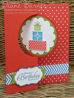 Stampin Up Wishing You flip thinlits birthday card by Di Barnes #colourmehappy #stampinup