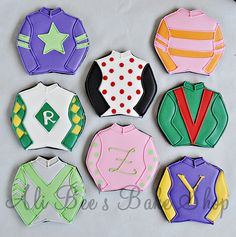 How cute! Jockey cookies!