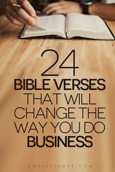 It never ceases to amaze me how relevant the Bible still is even with some of the books being thousands of years old. Solomon said there is nothing new under the sun and he was right. So here are 24 helpful verses that will change how you do business! Christian Life, Christian Quotes, Christian Living, Christian Motivation, Bible Scriptures, Bible Quotes, Bible Quotations, Faith Quotes, Marion Zimmer Bradley
