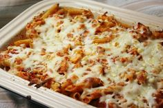 Chicken Parmesan Pasta Casserole: this was so good, incredibly easy, and every bit got eaten :)