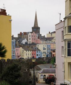 ~ colourful Tenby on a bleak day ~