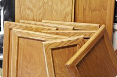 If you have these honey oak cabinets in your house, here is a great tutorial on how to paint them!