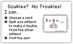 Here's a poem for helping kids remember doubles facts