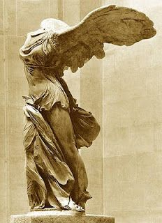 Nike of Samothrace at the Louvre  She inspires me.