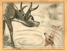 "Marc Davis storyboard for ""Bambi"""