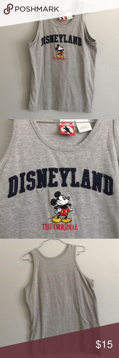 Mickey Vintage shirt Mickey/Disney tank top. 100% cotton. Worn a couple of times. Tags: Disneyland, Mickey Mouse. Disney Tops Tank Tops