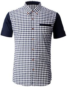 FLATSEVEN Mens Casual Gingham Woven Check Plaid Slim Fit Shirt (SH1008) Navy, XL FLATSEVEN http://www.amazon.com/dp/B00L328GV4/ref=cm_sw_r_pi_dp_oXe3ub097X2JA #FLATSEVEN #Men  #Slim Fit #Shirt #Fashion