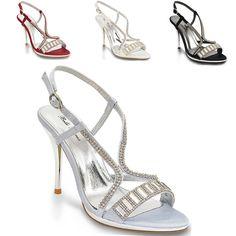 Femme Lacet Bout Ouvert Talon Haut Sandale Soirée Mariage Chaussures Taille