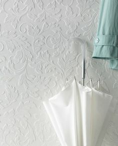 Large Scrolling Leaf Paintable Wallpaper from www.grahambrown.com