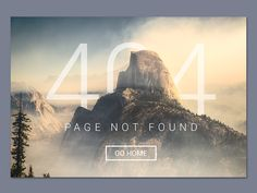 404 page -- My design for Daily UI #008 --