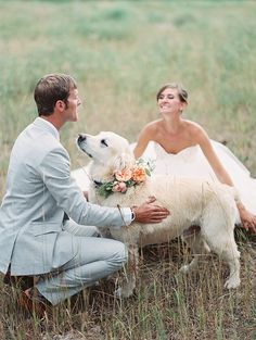 So naturally any wedding that has a gorgeous pup in it captures my heart and this beautiful mountain wedding by MONTANA WEDDING PHOTGRAPHERS JEREMIAH AND RACHEL has done that and then some! I mean come on, how cute is their adorable retriever, … Continu Dog Wedding, Dream Wedding, Tangled Wedding, Neotraditional Tattoo, Beaux Couples, Montana Wedding, Wedding Pictures, Wedding Bells, Marie