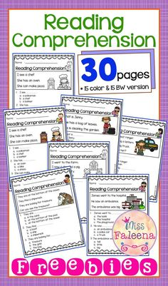 Free Reading Comprehension is suitable for Kindergarten students or beginning readers. This product is helping children to sharpen reading and comprehension. There are 15 color and 15 black & white pages of reading comprehension worksheets.Preschool | Preschool Worksheets | Kindergarten | Kindergarten Worksheets | First Grade | First Grade Worksheets | Reading| Reading Comprehension | Free Reading Comprehension | Reading Comprehension Literacy Centers | Printables| Free Kindergarten Lessons