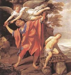 The Sacrifice of Isaac - Domenichino.  1627-28.  Oil on canvas.  147 x 140 cm.  Museo del Prado, Madrid, Spain.