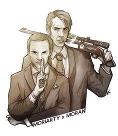 Sherlock BBC - Jim Moriarty x Sebastian Moran - MorMor