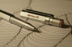 Rotring 600 Roller Ball Pen silver detail