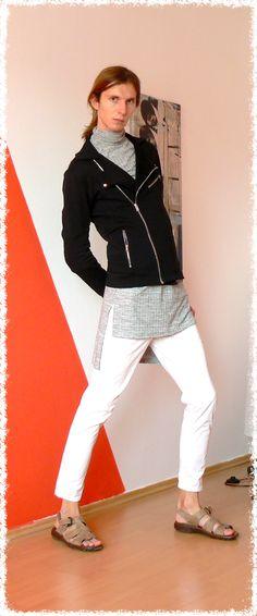 A bit Wolfgang Amadeus. Androgyny, White Jeans, Pants, Fashion, Trouser Pants, Moda, Fashion Styles, Women's Pants, Women Pants