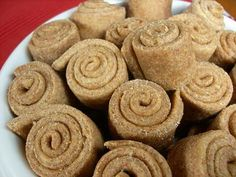 Peanut Cinnamon Roll treats.  The doggies would love this!