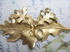 Bridal Hair Barrette Acorn and Leaf Artisan Crafted Hair Clips Hair Jewelry ** This is an Amazon Affiliate link. Check this awesome product by going to the link at the image.