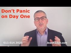 Don't panic on day one