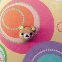 Cute DIY polymer clay charms_rilakkuma bear
