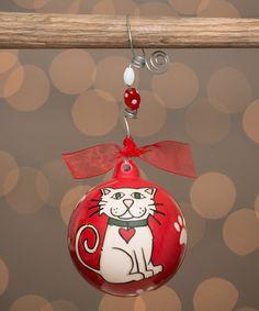 Look at this #zulilyfind! Cat Ball Ornament #zulilyfinds