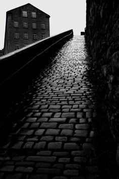 Halifax, The Snicket. Photo by Bill Brandt Dark Photography, Monochrome Photography, Black And White Photography, Street Photography, Prague, Bill Brandt, Camera Lucida, Famous Photographers, Photo Black