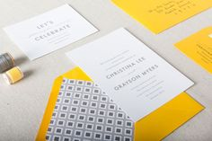 Nathan Wedding Invitation Suite   Chelsey Emery